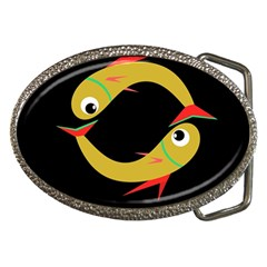 Yellow fishes Belt Buckles