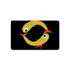 Yellow fishes Magnet (Name Card)