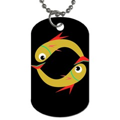 Yellow fishes Dog Tag (Two Sides)