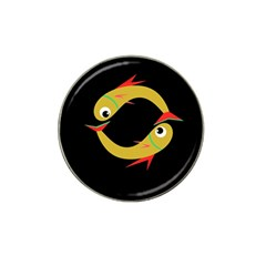 Yellow fishes Hat Clip Ball Marker