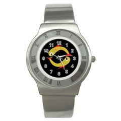 Yellow fishes Stainless Steel Watch