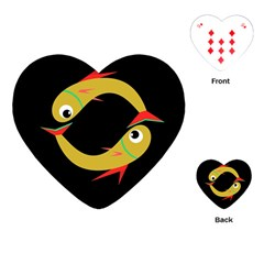 Yellow fishes Playing Cards (Heart)