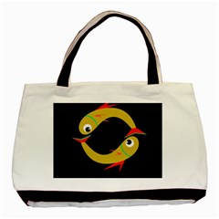 Yellow fishes Basic Tote Bag