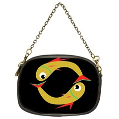 Yellow fishes Chain Purses (One Side)