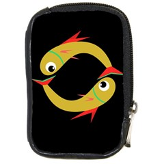 Yellow fishes Compact Camera Cases