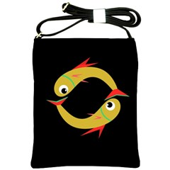 Yellow fishes Shoulder Sling Bags