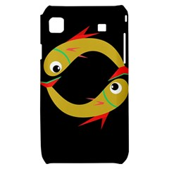 Yellow fishes Samsung Galaxy S i9000 Hardshell Case