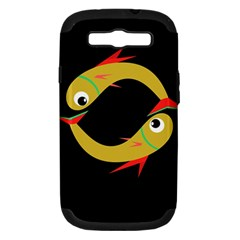 Yellow fishes Samsung Galaxy S III Hardshell Case (PC+Silicone)
