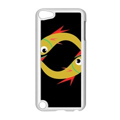 Yellow fishes Apple iPod Touch 5 Case (White)