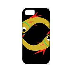 Yellow fishes Apple iPhone 5 Classic Hardshell Case (PC+Silicone)