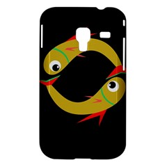 Yellow fishes Samsung Galaxy Ace Plus S7500 Hardshell Case