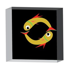 Yellow fishes 5  x 5  Acrylic Photo Blocks