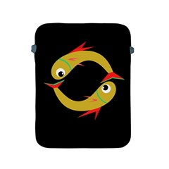 Yellow fishes Apple iPad 2/3/4 Protective Soft Cases