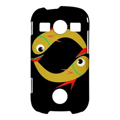 Yellow fishes Samsung Galaxy S7710 Xcover 2 Hardshell Case