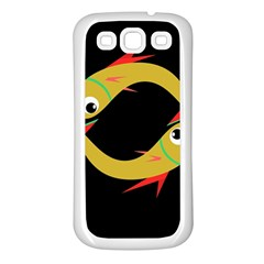 Yellow fishes Samsung Galaxy S3 Back Case (White)