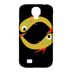 Yellow fishes Samsung Galaxy S4 Classic Hardshell Case (PC+Silicone)