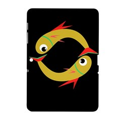 Yellow fishes Samsung Galaxy Tab 2 (10.1 ) P5100 Hardshell Case