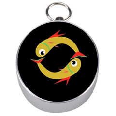 Yellow fishes Silver Compasses