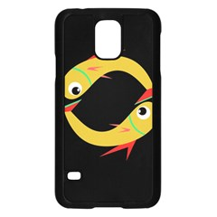 Yellow fishes Samsung Galaxy S5 Case (Black)