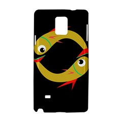 Yellow fishes Samsung Galaxy Note 4 Hardshell Case