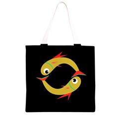 Yellow fishes Grocery Light Tote Bag