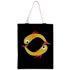 Yellow fishes Classic Light Tote Bag
