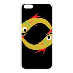 Yellow fishes Apple Seamless iPhone 6 Plus/6S Plus Case (Transparent)