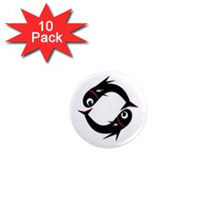 Black fishes 1  Mini Magnet (10 pack)