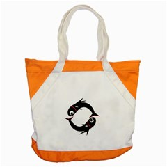 Black fishes Accent Tote Bag