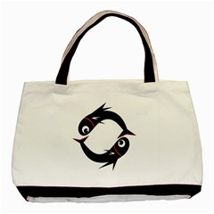 Black fishes Basic Tote Bag (Two Sides)