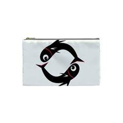Black fishes Cosmetic Bag (Small)