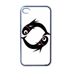 Black fishes Apple iPhone 4 Case (Black)