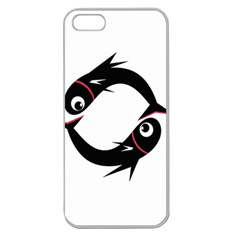 Black fishes Apple Seamless iPhone 5 Case (Clear)
