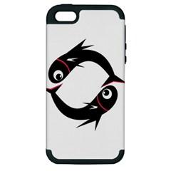 Black fishes Apple iPhone 5 Hardshell Case (PC+Silicone)