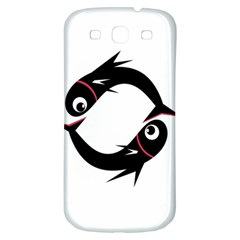 Black fishes Samsung Galaxy S3 S III Classic Hardshell Back Case