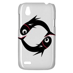 Black fishes HTC Desire V (T328W) Hardshell Case