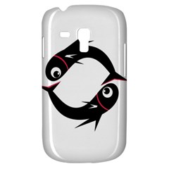 Black fishes Samsung Galaxy S3 MINI I8190 Hardshell Case