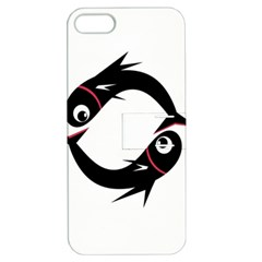 Black fishes Apple iPhone 5 Hardshell Case with Stand