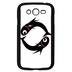 Black fishes Samsung Galaxy Grand DUOS I9082 Case (Black)