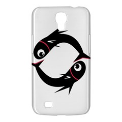 Black fishes Samsung Galaxy Mega 6.3  I9200 Hardshell Case