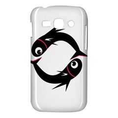 Black fishes Samsung Galaxy Ace 3 S7272 Hardshell Case