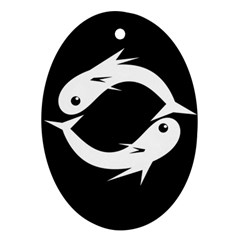 White fishes Ornament (Oval)