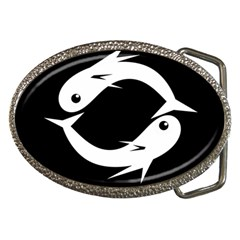 White fishes Belt Buckles
