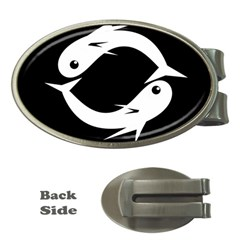 White fishes Money Clips (Oval)