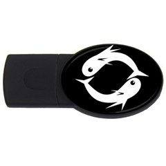 White fishes USB Flash Drive Oval (1 GB)