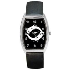 White fishes Barrel Style Metal Watch