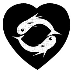 White fishes Jigsaw Puzzle (Heart)