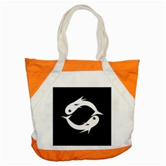 White fishes Accent Tote Bag