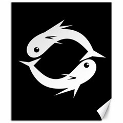 White fishes Canvas 20  x 24