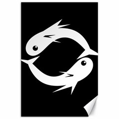 White fishes Canvas 24  x 36